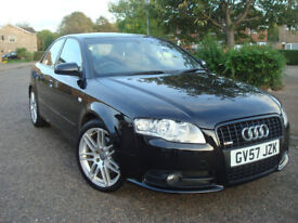 Audi A4 2.0 TDI 170 BHP S-LINE QUATTRO BLACK EDITION 6 SP.MME SAT.NAV.1 Former Keeper,Leather Seats