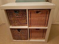 IKEA Storage White - KALLAX including the baskets