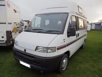 Swift Mondial two berth with end kitchen for sale