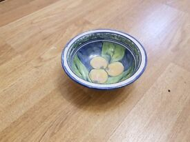 A set of handmade pottery breakfast bowls from Zimbabwe