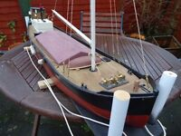 Model boat, Coastal barge or Puffer.