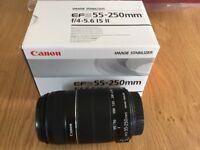 Canon SLR EFS 55-250mm IM Lens