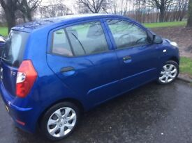 Hyundai i10 Classic, metallic blue, 63 plate, great condition, easy to drive