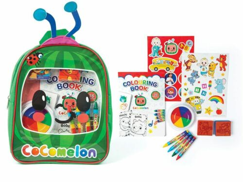 Cocomelon Craft Backpack - Contains Colouring Book Stampers Crayons Stickers