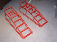 Pair of Red Paddy Hopkirk Car Ramps. Good Condition
