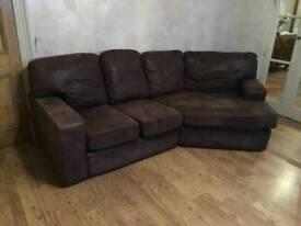 Suede sofa excellent condition