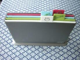 Joseph Joseph 4 Index Chopping Boards in Graphite, GOOD CONDITION, £14
