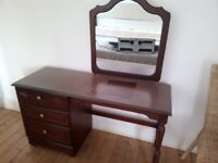 Mahogany Dresser, Chest of Drawers and Bedside Cabinet