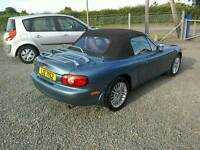 05 Mazda Mx5 1.8 Convertible Soft and Hard Top 12 MTS Mot Service history ( can be viewed anytime)