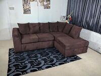 **SPECIAL OFFER** KINGSTON JUMBO CORD CORNER SOFA OR (3+2) **UK DELIVERY**