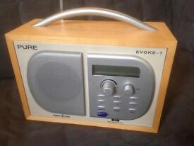 Pure Evoke 1 DAB radio