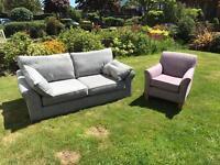 Harveys Grayson 3 seater sofa, armchair and storage footstool
