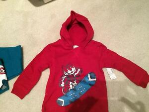 Boys new overalls shirt and sweatshirt - new with tags - 3 piece