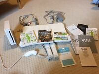 Nintendo Wii console with Wii fit board, games, x 2 controllers