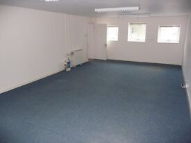 Two secure offices totaling 600 sq ft with additional open storage area