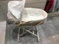 Mothercare Moses Basket with Dormouse Rocking Stand