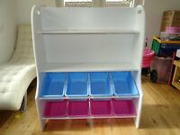 JoJo Maman Bebe Childrens Book/Toy Storage Unit