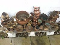 one lot assorted planters ect