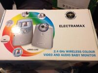 Brand New Colour Viseo and audio baby monitor with night vision