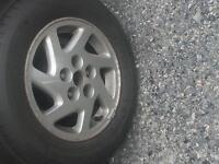 """4 - Nissan Alloy Rims 15"""" 5 lug"""