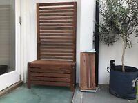 IKEA APPLARO bench + wall panel outdoor furniture