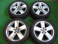 "VW GOLF MK5, SHARAN, PASSAT, TOURAN, CADDY, T4, SKODA 17"" ALLOY WHEELS"