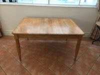 Large elm kitchen dining table