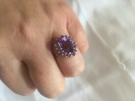 Ladies large size silver rings £15 can deliver if local