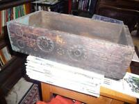 VERY OLD HAND CARVED DECORATIVE BOX