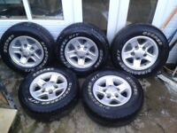 Landrover defender boost alloy wheels and Cooper tyre's that are only 6 months old