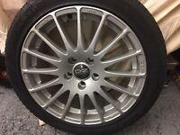 VW Caddy OZ racing 17 inch 16 spoke alloys wheels with Vredstein5 all season tyres.
