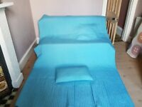 Ikea Karit Bedspread with Cushion Cover in pale aqua
