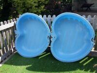 Apple shaped plastic paddling pool/ball / sand pit