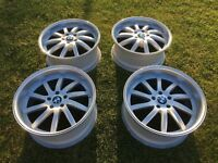 "5 x 120 20"" Deep dish staggered alloys"
