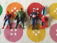 Super Heroes set Hulk, Spider Man, Flying Spider Man and Captain America. All excellent condition