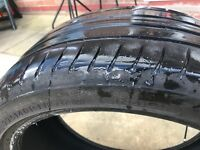 225-40-18. Part worn tyre hard to get hold of in part worn. Will last a few months can deliver £20