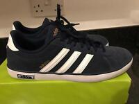 MENS ADIDAS DERBY VULC NAVY TRAINERS UK 9.5 WORN ONCE