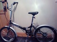 Folding bike, Ladies/Mens, 6gears,excellent condition,hardly used,fits in car boot,easily folded.