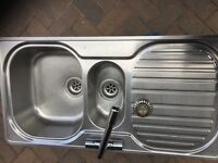 FRANKE stainless kitchen sink and stainless tap