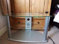 Glass tv unit, good condition