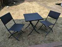 Rattan Style Table and Chairs