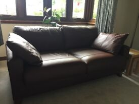 Brown leather Portofino sofa. Excellent condition. A couple of minor scuffs (see photos).
