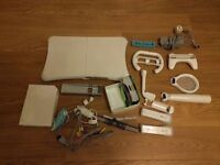 Nintendo Wii game console + Wii fit balance board + sports bundle