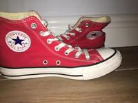 Red Converse Shoes, Size 6