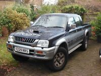 Mitsubishi L 200 Pickup Y Reg (2001) Tax and MOT till march 2017