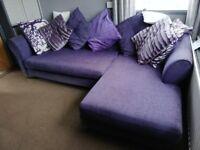 Purple corner Sofa and Chair