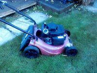 lawn mower needs a garden