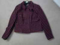 MARKS AND SPENCER LADIES' RED AND BLACK JACKET SIZE 12