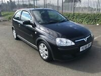 2005 55 VAUXHALL CORSA 1.2i SXI TWINPORT BLACK, MOT SEPT 2018, EXCELLENT CONDITION