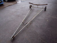 Dinghy Launching Trolley, suit up to 16ft boat (measures 10ft handle to wheels)
